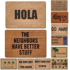 doormat, Door, Home Decor, letter print