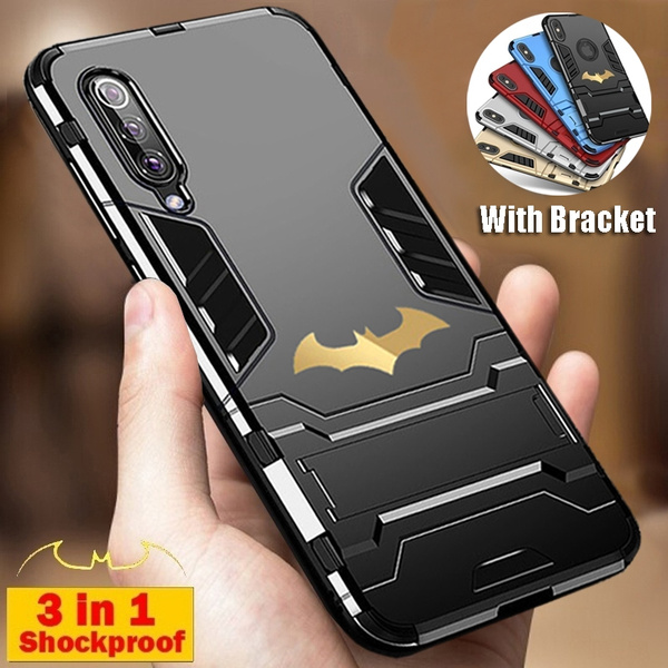 2020 luxury Batman Iron Man Design Hard Armor Waterproof Shockproof Dustproof Protective Soft Silicon Case Cover with Stand for Huawei P30 PRO P20 ...