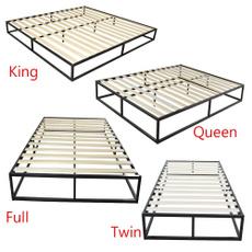 Steel, King, bedframesqueensize, bedplatform
