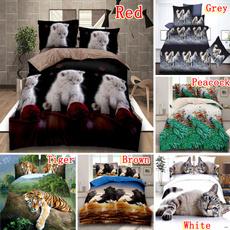 3dbedsheet, Polyester, Tiger, Bedding Sets