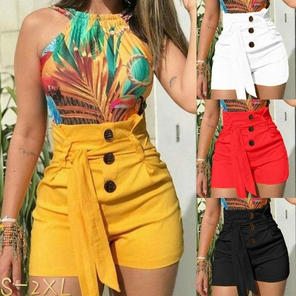 Summer, Plus Size, high waist, pants