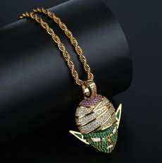 hip hop jewelry, punk necklace, Jewelry, gold