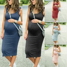 Maternity Dresses, Summer, Elastic, pregnant