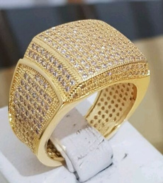 Cubic Zirconia, White Gold, goldplated, gold