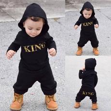 King, hooded, babyboyjumpsuit, jumpsuit