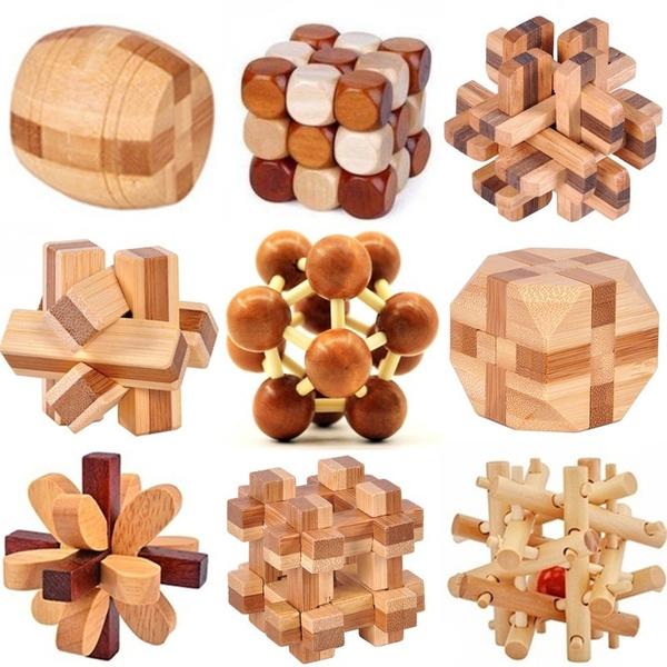 Toy, kongminglock, Wooden, woodtoy