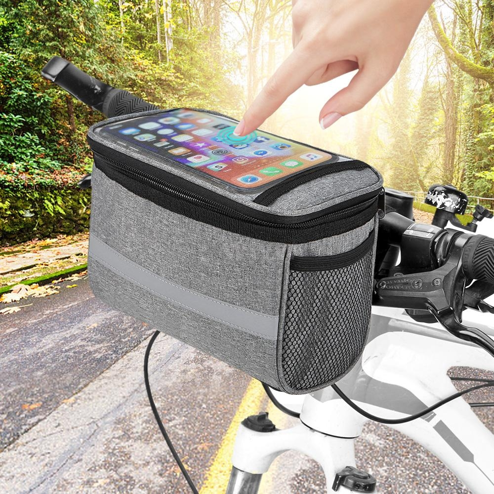 Bike Handlebar Bag Bicycle Insulated Front Basket Cycling Pannier Cooler Pouch