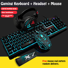 wiredkeyboard, led, usb, gamingheadset