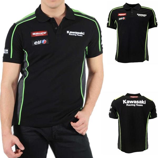 Hot Sales Motogp Team Green Polo T Shirt Motorcycle Casual Polo Shirt Fit For Kawasaki Racing Fans Men Motocross Summer T Shirt Wish