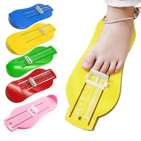 Yellow Infant Toddler Shoe Gauge Child Foot Measurer for UK Shoe Size 1-14