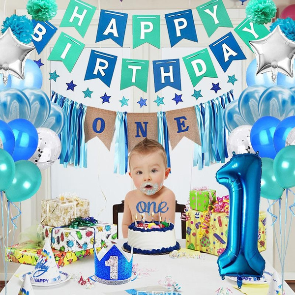 happybirthday, 1stbirthdayhat, pinatasballoon, bannerdecorationballoon