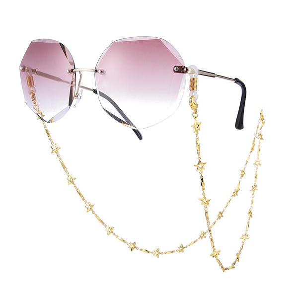 Reading Glasses Cord Star Metal Glasses Chain Holder For Women Sunglasses Chain Strap Eyewear Accessories Metal Lanyards Wish