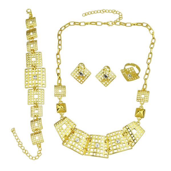 geometricjewelryset, Chain Link Bracelet, Crystal Jewelry, Stud Earring