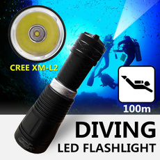 Flashlight, underwater, Lighting, divelamp