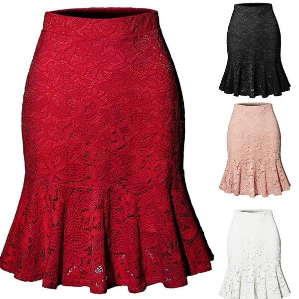 fishtailskirt, Summer, Plus Size, Lace