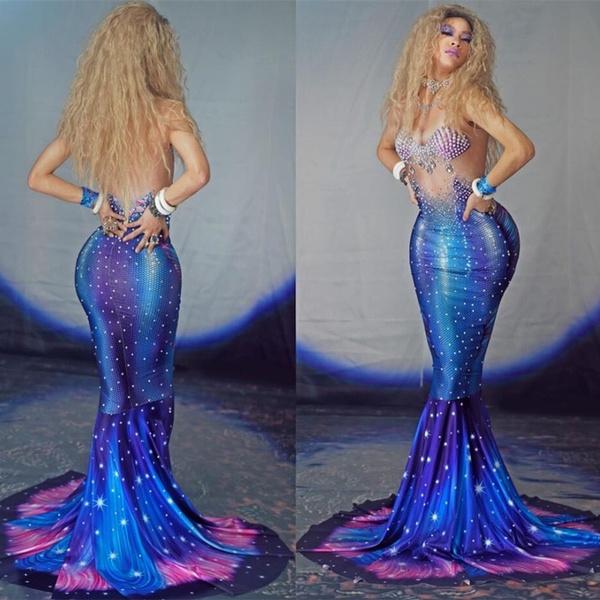 Mermaid dress, singer, Fashion, long dress