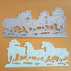 album, Steel, horse, stencil