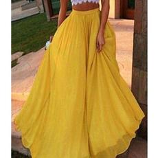 bigswing, Summer, long skirt, elastic waist