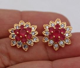 Fashion, 18k gold, gold stud earrings for women, Jewelry