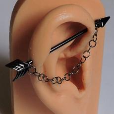 fashionwomensjewelry, piercingbodyjewelry, gunmetal, industrialbarbell