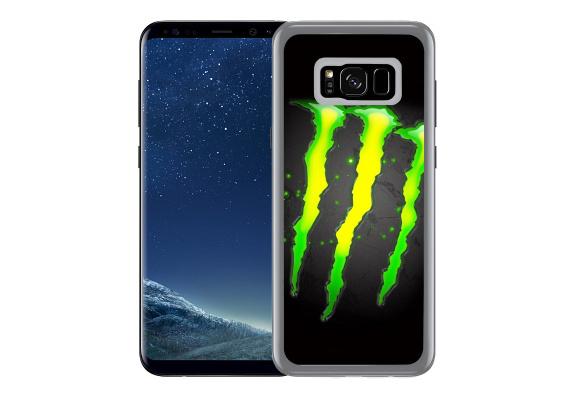 Coque pour Samsung Galaxy S8 Plus monster energy logo glow