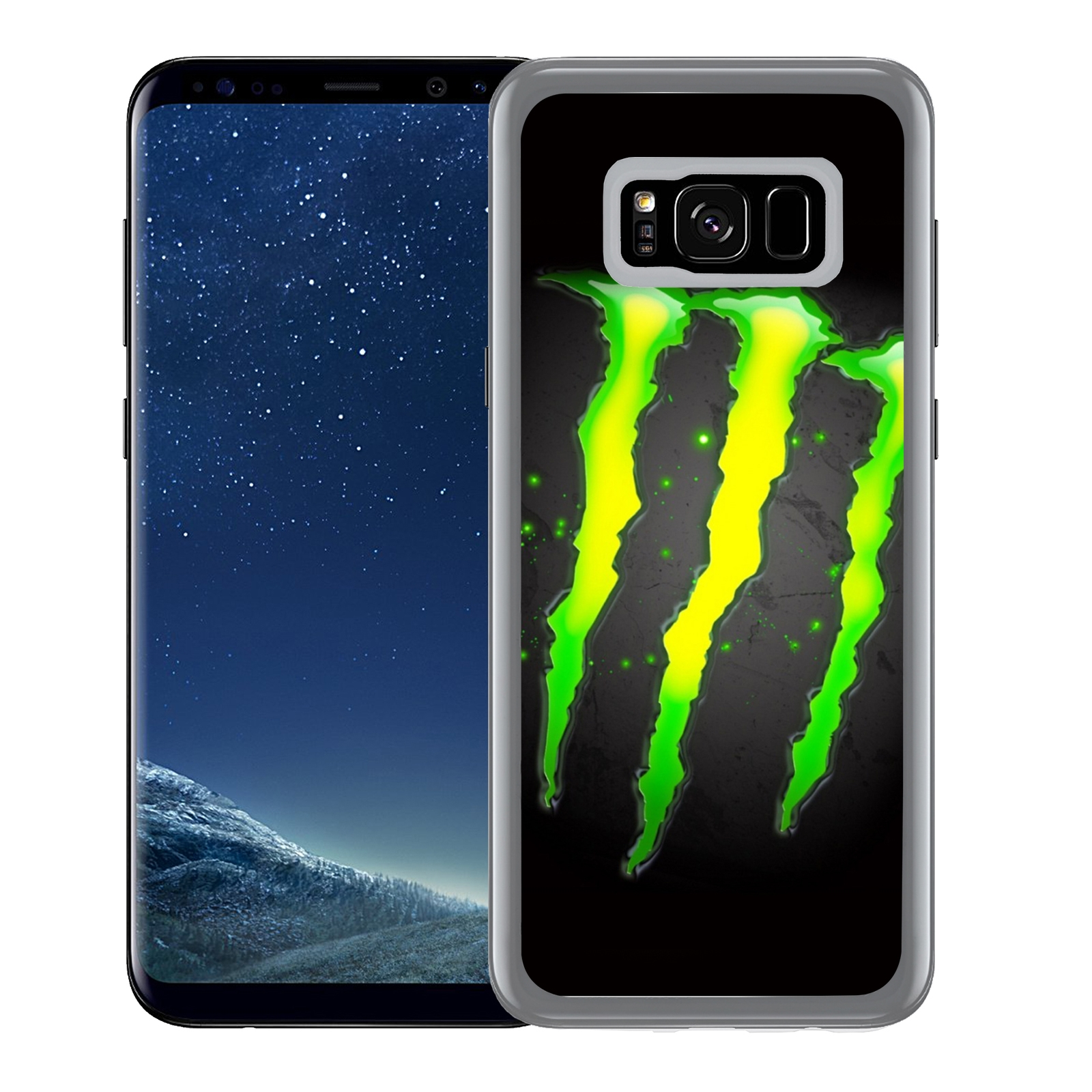 Coque pour Samsung Galaxy S8 Plus monster energy logo glow | Wish