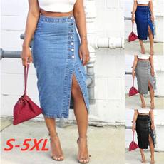 denim dress, fall clothes women, Fashion, Waist
