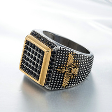 Steel, Fashion, Jewelry, geometricring