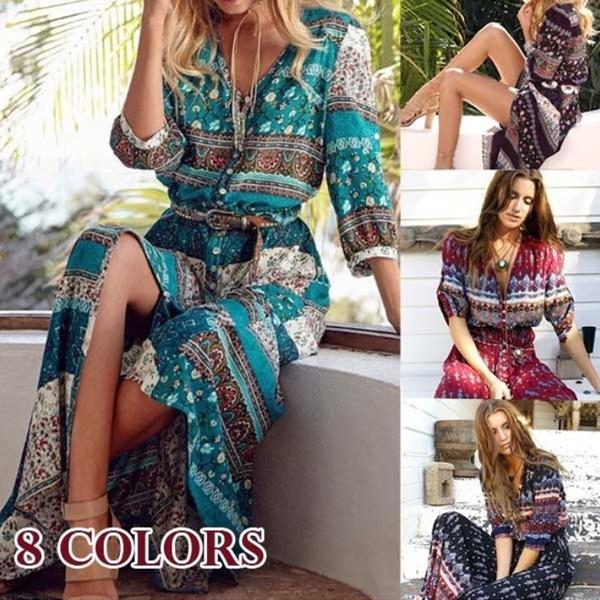 bohemia, Summer, Fashion, Floral print