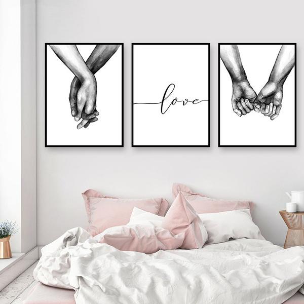 minimalist, Decor, loverquote, Black And White