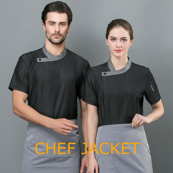 Fashion, chefjacketmen, Hotel, short sleeves