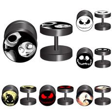 Steel, nightmareearring, stainless steel earrings, punk earring
