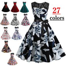 Summer, dressesforwomen, Swing dress, chiffon dress
