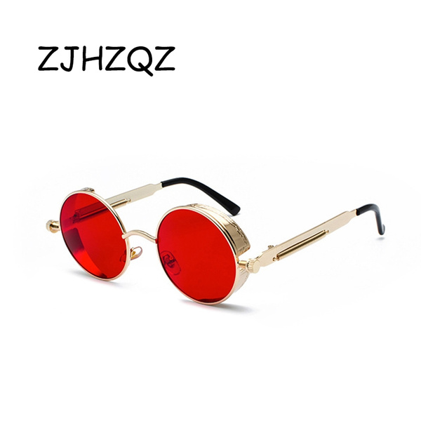 Designers, gold, steampunk sunglasses, Yellow