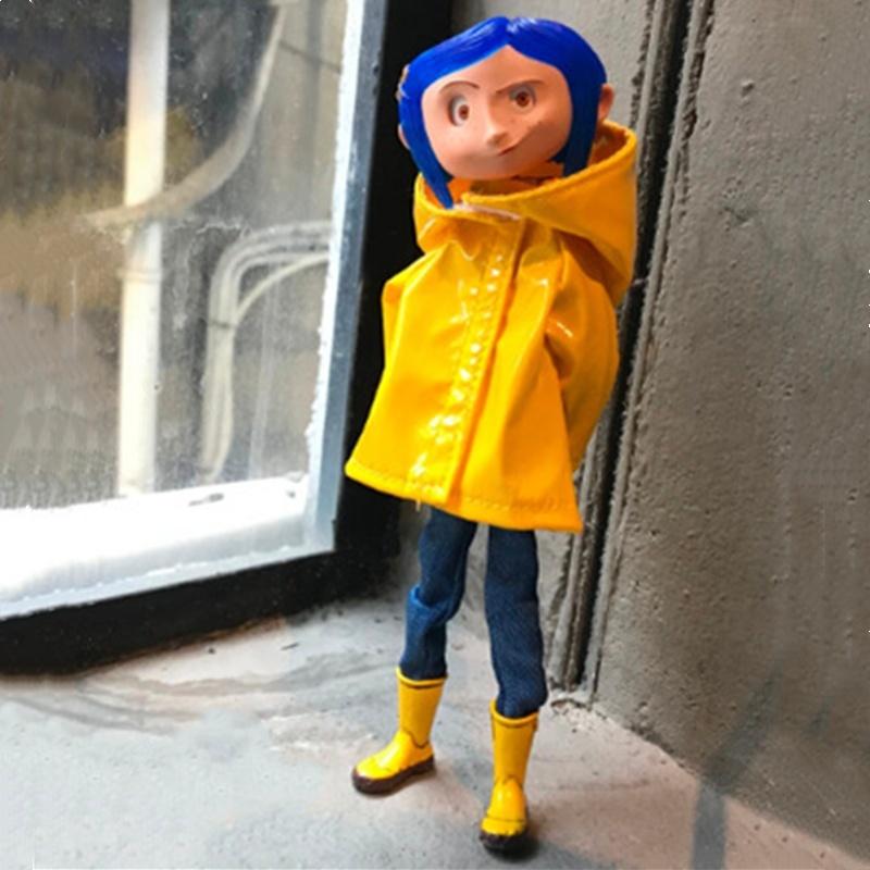 Yellow Raincoat Ver Coraline The Secret Door Neca 7 Inch Action Figure Model Toy Wish