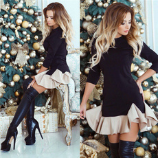 slim dress, Shorts, Necks, Sleeve