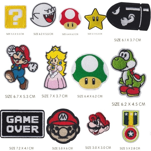 Fashion, irononapplique, Mario, Stickers