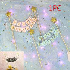 cakebannerflag, cupcaketopper, homedeor, starcaketopper