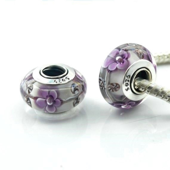 Charm Bracelet, euruopeanbead, Flowers, Jewelry