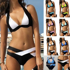 Summer, Bathing, Bikinis Set, bandeau swimwear