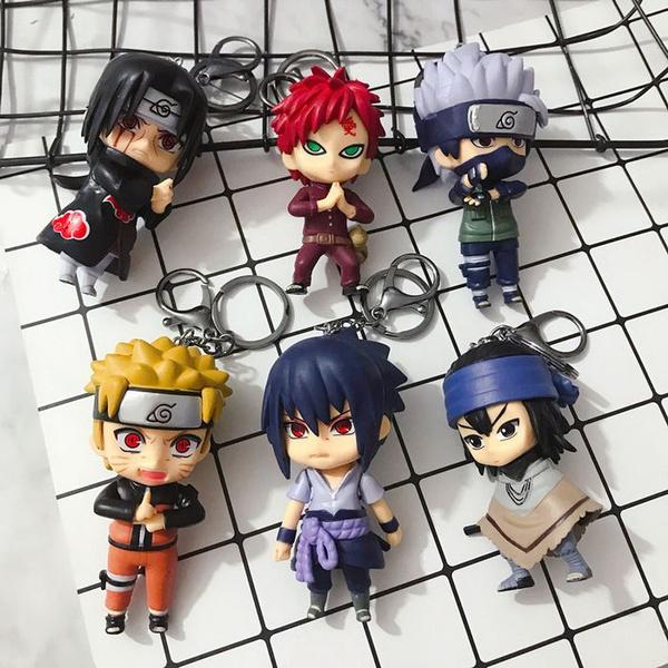 1pcs Naruto Keychain Sasuke Itachi Double Sided Acrylic Key Chain 2020 NEW