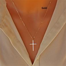 clavicle  chain, Fashion, Jewelry, Cross Pendant