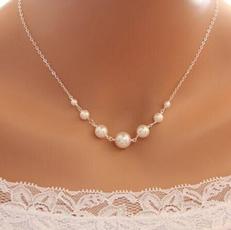 restoringancientway, Fashion, Jewelry, stringpearlsinglelayernecklace