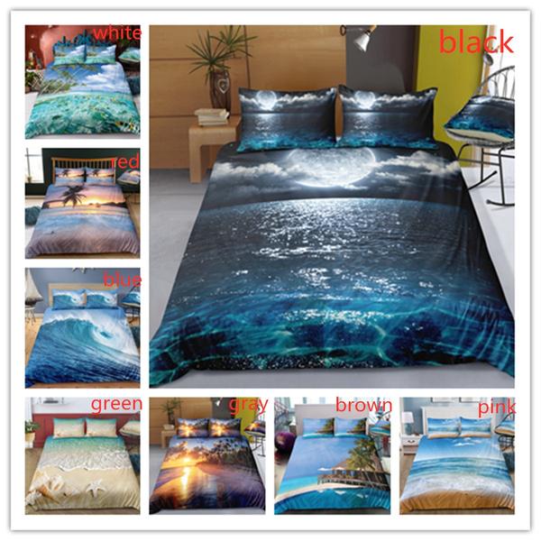 3d Surf Sea Wave Ocean Duvet Cover, Surf Bedding Queen