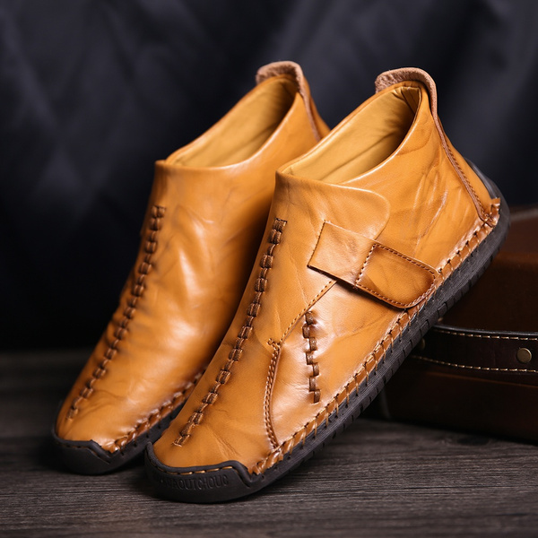 Menico Men Hand Stitching Leather Ankle