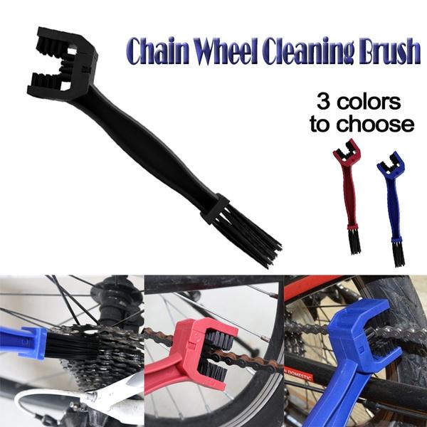 Chain Brush Wheel Cleaning Cleaner Motorcycle Bicycle Bike Motocross Motorbike