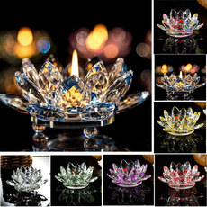 Candleholders, crystalgla, Flowers, Home Decor
