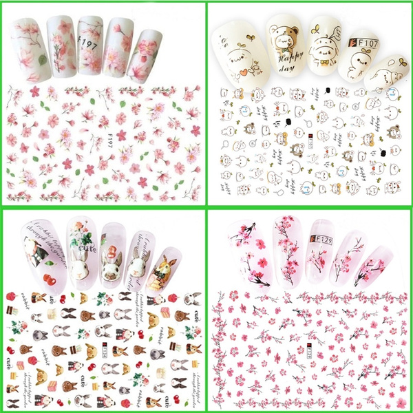 Stickers, water, nail decals, art