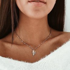 clavicle  chain, gold, Choker, Women's Fashion