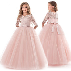 Sleeveless dress, Lace, princessdresse, Dress